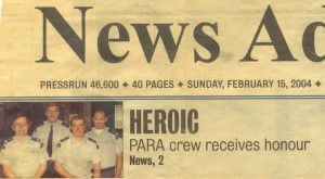 Heroic PARA Crew Receives Honour