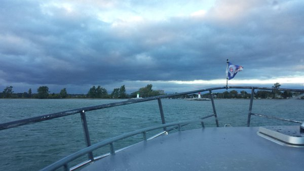 Entering Frenchman's Bay at dusk